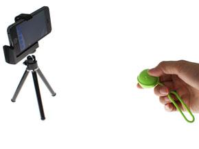 スマホの遠隔撮影で手ブレとおさらば――「Bluetooth シャッターボール」