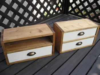 ② HOMEに持っていく木工。