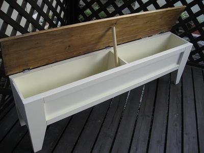 長ベンチ(収納BOX付き)