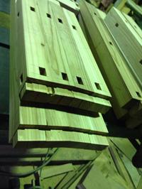 杉椅子 制作中