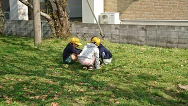 児童クラブの外遊び