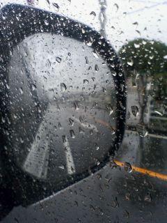 雨のスタート