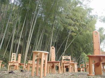 竹林の二輪舎の家具
