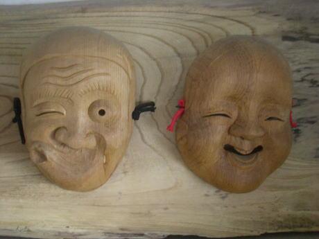 木彫り面作り教室