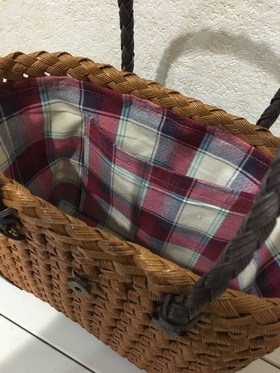 石畳編みのバッグやカゴ(╹◡╹)