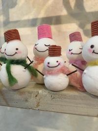 クリスマスリースのパーツ「雪だるま」♪仕上げました^ ^