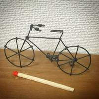 結束線の自転車