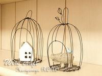ワイヤークラフト「鳥カゴ」