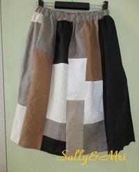 オリジナルパッチスカート♪