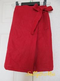 お子様用リボンが大きい巻きスカート♪