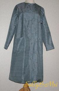 着物リメイク大島紬でスプリングコート♪