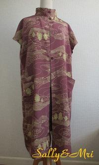 着物リメイク フレンチスリーブの羽織物♪