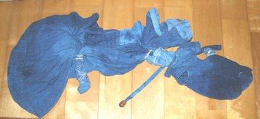 作務衣のインド藍染に創作意欲 満々!!