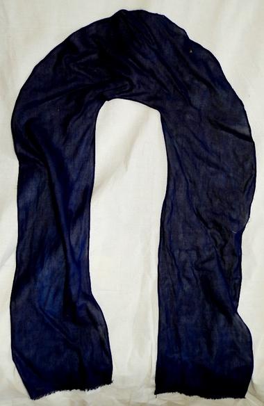 インド藍染め『U-lineストール』完成