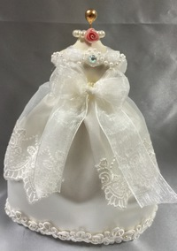 ミニチュアウエディングドレス