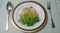 食医食 男の料理「水菜のペペロンチーノ」「牛肉のソテー」