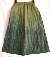 「柄絞り」名人の草木染スカート