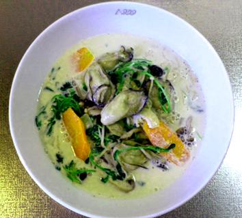 簡単! 牡蠣の豆乳鍋