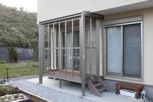 ガーデンエクステリア・ソガランズ:これで安心!物干し場。