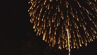 水平線の花火と音楽4♪