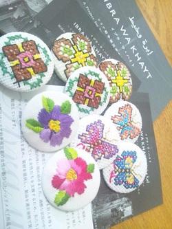 イブラワハイト♡刺繍ボタン♡パッチワーク