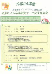 公募による卒業研究テーマ成果発表会