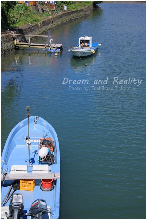 堀川の小船