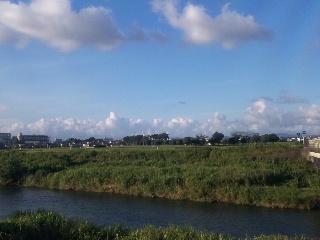 萩原川風景