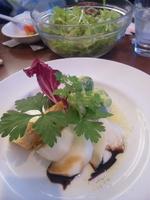 水耕栽培のサラダ&前菜(キッシュと蕪のバルサミコ酢添え)