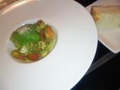 セロリの手打麺+魚介と夏野菜のジェノバ風