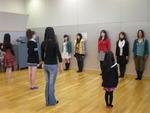 ファッションショーの練習