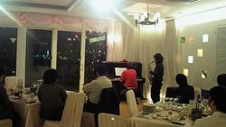 ピアノとサックス演奏