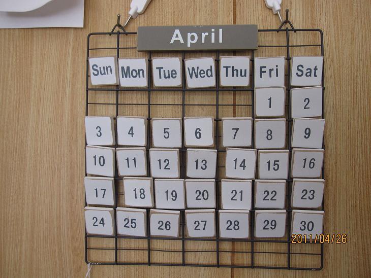 カレンダー・・・(^.^)
